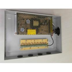 Sursa de alimentare camere CCTV in cabinet metalic DC12V 10A