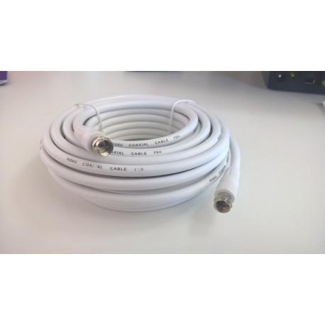 Cablu Coaxial RG-59 10m cu mufe F