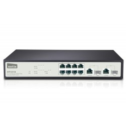 8FE Ethernet + 2 Combo-Port Gigabit  SNMP Switch