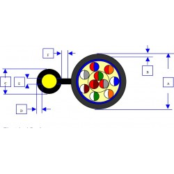 Cablu telefonic 10 perechi autoportant (cu sufa)