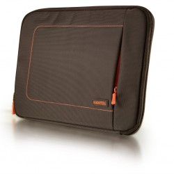 Husa protectie laptop-notebook Oxford Style 102&quot maro-portocaliu