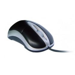 Mouse USB Middle USB Black-Silver