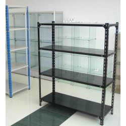 Heavy Rack 4 raft L120*H150*D45cm black