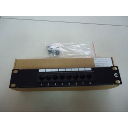 Patch panel 8 porturi 10inch rack mount UTP Cat 5e