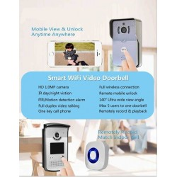 Videointerfon over IP WiFi  camera HD 1Mpx + PIR sunet dual market Android + iPhone