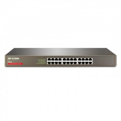 IPCOM Switch 24Port 10/100M rack-mountable 19'' -8k Mac self learning