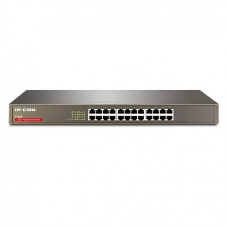 IPCOM Switch 24Port 10/100M rack-mountable 19'' -8k Mac self learning