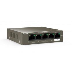 Switch PoE IPCOM G1105P, 5 porturi Gigabit ,green energy,4 porturi PoE, protectie fulgere