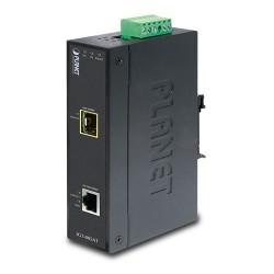Industrial 10-100-1000BASE-T to 100-1000BASE-X SFP Media Converter