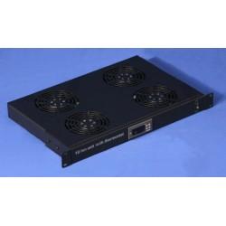 Unitate ventilare pt rack cu termostat si 2 ventilatoare