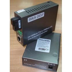 WDM 40km Media Converter 10-100 SM Single Fiber