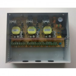 Sursa 180W pentru 12 camere, iesiri protejate tensiune duala 12V & 15V, cabinet metalic, full protection