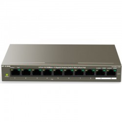 IPCOM-PoE Switch-8 Port 10/100 Mbps+2 Gigabit Desktop Switch