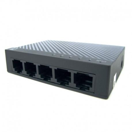 Switch Netis 5 porturi Fast Ethernet 10/100M, carcasa plastic miniatura