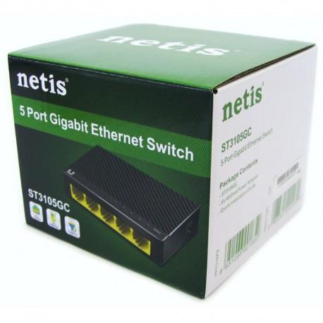 Switch gigabit cu 5 porturi, 10/100/1000Mbps RJ45 cu tehnologie unblocking.