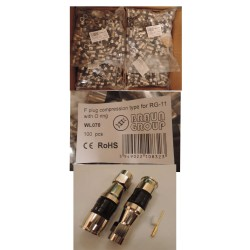 Conector F compresie RG-11