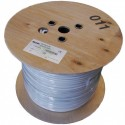 Cablu coaxial 75 ohm pentru interior si exterior fara autosustinere (fara sufa)